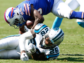 LeSean McCoy gets knocked for a 360 by Daryl Worley