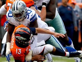 Watch: DeMarcus Lawrence flies through for strip sack, Cowboys recover