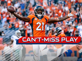 Watch: Can't-Miss Play: Aqib Talib returns an interception for 103-yard TD
