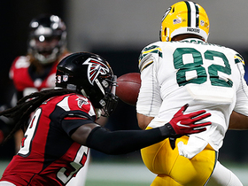 De'Vondre Campbell sacks Aaron Rodgers for loss of 8 yards