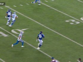 Eli Manning passes deep to Jerell Adams for 38 yards