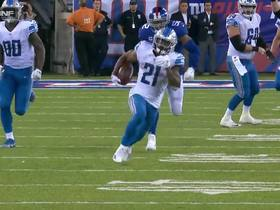 Ameer Abdullah powers downfield for 34-yard gain