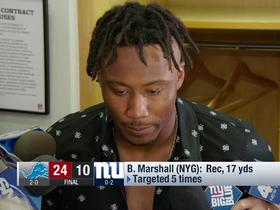 Watch: Brandon Marshall on big drop: I lost the ball in the light
