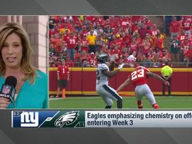 Watch: Kimberly Jones: Eagles fans will provide 'hostile' environment for Giants in home opener