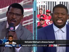 Watch: Michael Irvin and LT debate fairness of saying Ezekiel Elliott quit