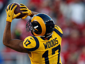 Jared Goff throws a dime to Robert Woods for a 31-yard pickup