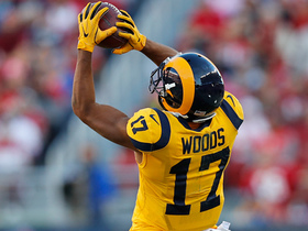Watch: Robert Woods keeps his feet in-bounds on nice throw from Goff