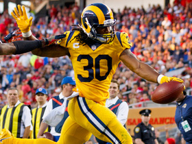 Watch: Gurley races to the edge for THIRD TD of first half