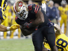 Carlos Hyde punches in goal line TD