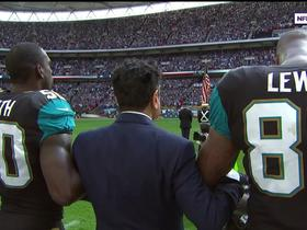Watch: Ravens and Jaguars players lock arms in unity before London Game