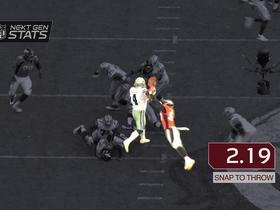 Watch: Next Gen Stats: Broncos defensive pressure