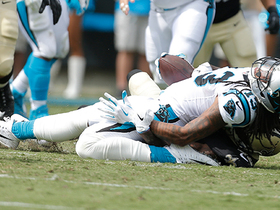 Watch: Kelvin Benjamin snatches bobbled ball for a completion on the ground