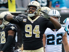 Watch: Cameron Jordan makes a key sack in the red zone to force field goal