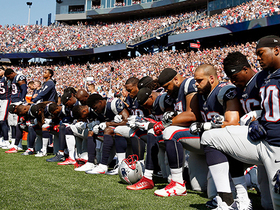 Watch: Patriots and Texans share moment of unity