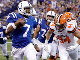 Watch: Jacoby Brissett scrambles for the touchdown vs. the Browns