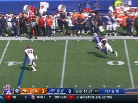 Watch: Tyrod Taylor shakes Von Miller, get out of trouble