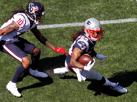 Watch: Stephon Gilmore picks up his first interception in a Patriots uniform