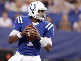 Jacoby Brissett hits Donte Moncrief out of his own end zone for a 34-yard gain