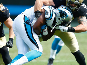 Watch: Cam Newton throws a dart to Devin Funchess for a gain of 21-yards