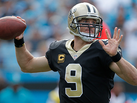 Watch: Drew Brees throws deep left to Michael Thomas for a 26-yard completion