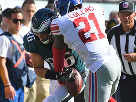 Watch: Landon Collins forces the fumble on Zach Ertz, Giants recover