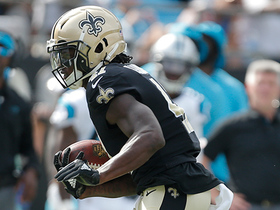 Watch: Saints rookie Alvin Kamara beasts down sideline to record his first NFL touchdown