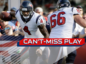 Can't-Miss Play: Watson avoids four sacks and finds Foreman for 31 yards