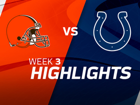 Browns vs. Colts highlights | Week 3