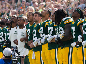Watch: Bengals and Packers share moment of unity during national anthem