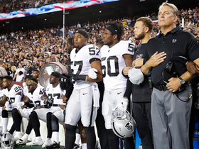 Watch: Oakland Raiders and Washington Redskins share moment of unity