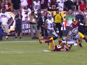 Watch: Kendall Fuller picks off Derek Carr's pass intended for Seth Roberts