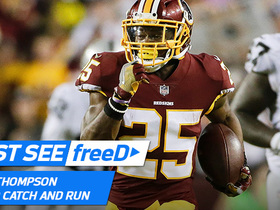 Watch: freeD: Watch Chris Thompson's 74-yard catch -- from his point of view
