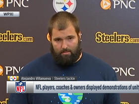 Watch: Alejandro Villanueva: All of my teammates would have stood by me