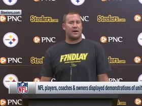 Watch: Ben Roethlisberger on the Steelers decision to stay in the locker room