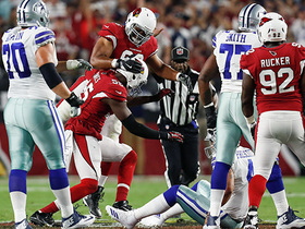 Watch: Chandler Jones sacks Dak Prescott, shows off his dance moves