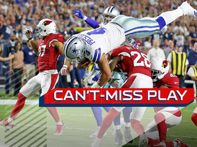 Watch: Can't-Miss Play: Dak front flips over TWO defenders for TD