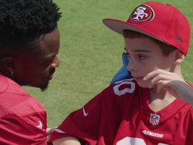 Marquise Goodwin helps make the day of a 49ers fan