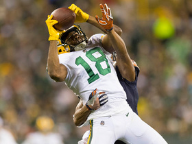 Randall Cobb leaps up for 26-yard grab in tight coverage