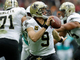Watch: Drew Brees fumbles snap, recovers ball