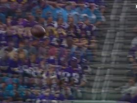 Adam Thielen makes himself open for a 24-yard sideline completion