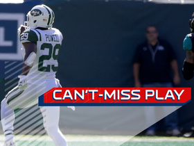 Can't-Miss Play: Bilal Powell scores from 75 yards out on a controversial no-call
