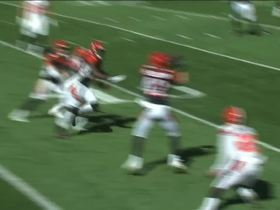 Clayton Fejedelem picks off a deflected pass for first career interception