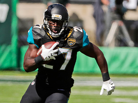 Leonard Fournette powers through the Jets D for 28 yards