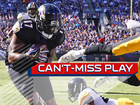 Flacco fires perfect TD pass in tight coverage to Mike Wallace