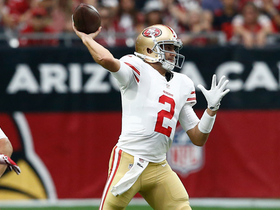 Brian Hoyer rolls out and finds George Kittle for 21 yards