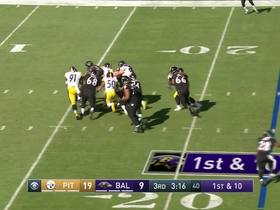 Cameron Heyward sacks Joe Flacco