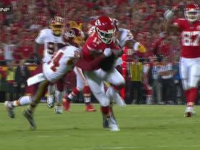 Josh Norman injures ribs after 21-yard catch by Chris Conley