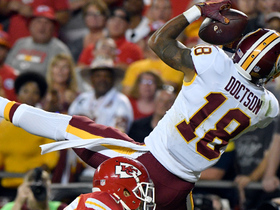 Kirk Cousins nearly throws go-ahead TD, but Josh Doctson can't hang on