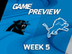 Watch: Panthers vs. Lions Week 5 game preview