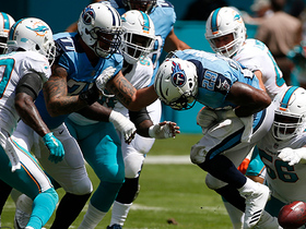 Godchaux smacks ball from Murray's hands, Dolphins recover